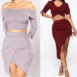 Fashion Nova Skirt Set